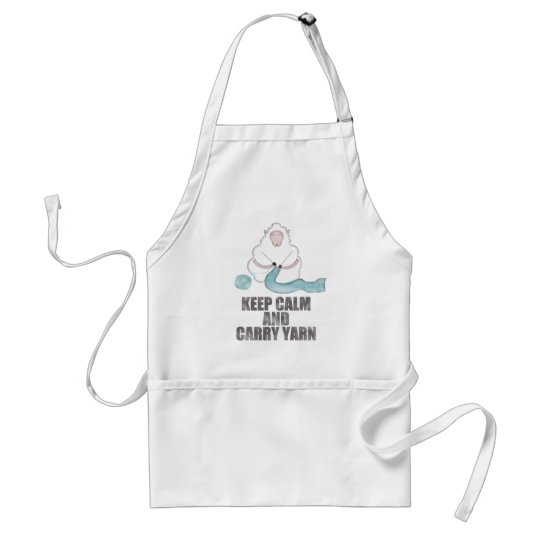 Keep Calm and Carry Yarn Adult Apron
