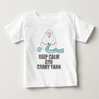 Keep Calm and Carry Yarn Baby T-Shirt