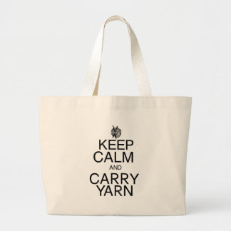 Keep Calm and Carry Yarn Jumbo Tote Bag
