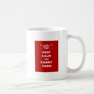 Keep Calm and Carry Yarn Coffee Mug