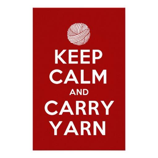 keep calm and carry yarn custom stationery