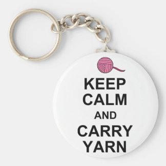 Keep Calm and Carry Yarn Key Chains