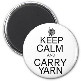Keep Calm and Carry Yarn Fridge Magnets
