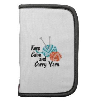 KEEP CALM AND CARRY YARN FOLIO PLANNER