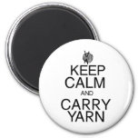 Keep Calm and Carry Yarn Refrigerator Magnets