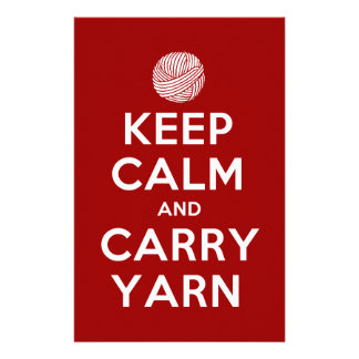 keep calm and carry yarn stationery