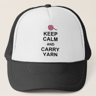 Keep Calm and Carry Yarn Trucker Hat