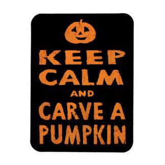 Keep Calm and Carve a Pumpkin Halloween Magnet