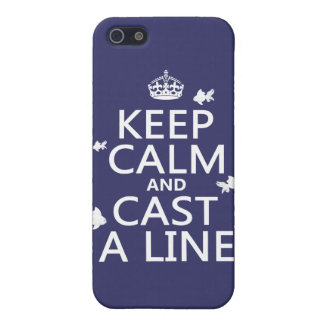 Keep Calm and Cast a Line customizable colors Cover For iPhone 5