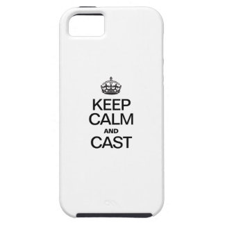 Keep Calm AND CAST iPhone 5/5S Covers