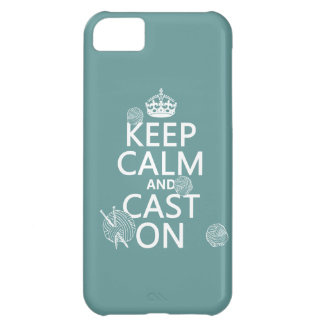 Keep Calm and Cast On - all colors Cover For iPhone 5C