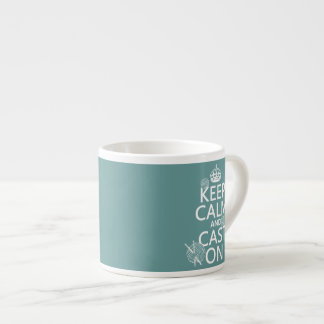 Keep Calm and Cast On - all colors Espresso Cup