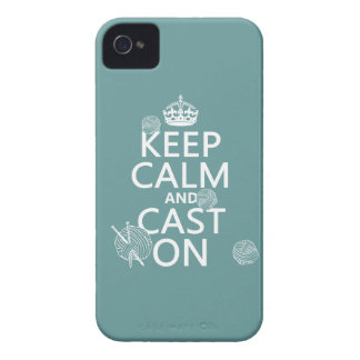 Keep Calm and Cast On - all colors iPhone 4 Case