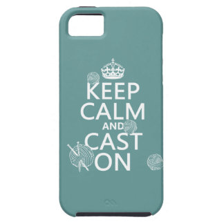 Keep Calm and Cast On - all colors iPhone 5 Covers
