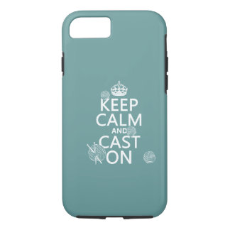 Keep Calm and Cast On - all colors iPhone 8/7 Case