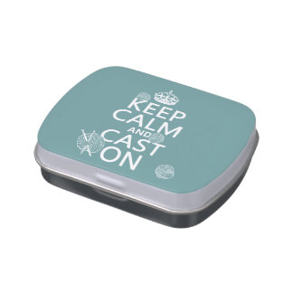 Keep Calm and Cast On - all colors Jelly Belly Tins
