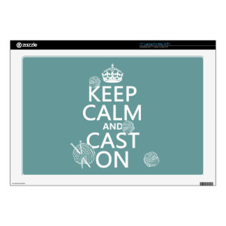 Keep Calm and Cast On - all colors Laptop Decals