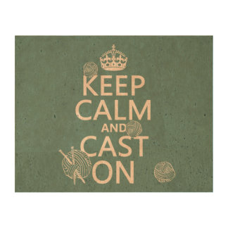 Keep Calm and Cast On - all colors Queork Photo Prints