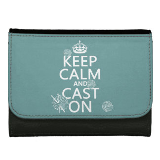 Keep Calm and Cast On - all colors Wallets