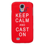Keep Calm and Cast On Knitting Tshirt or Gift Galaxy S4 Cases