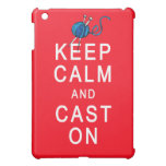 Keep Calm and Cast On Knitting Tshirt or Gift iPad Mini Cases