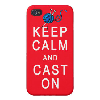 Keep Calm and Cast On Knitting Tshirt or Gift iPhone 4/4S Case