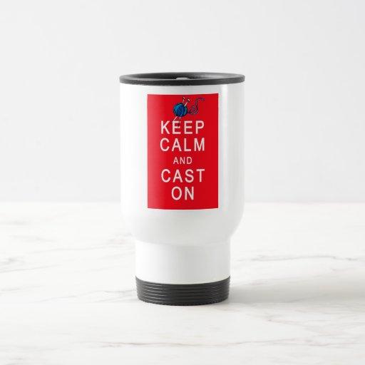 Keep Calm and Cast On Knitting Tshirt or Gift Coffee Mugs