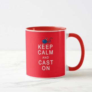 Keep Calm and Cast On Knitting Tshirt or Gift Mug