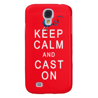 Keep Calm and Cast On Knitting Tshirt or Gift Samsung Galaxy S4 Cover