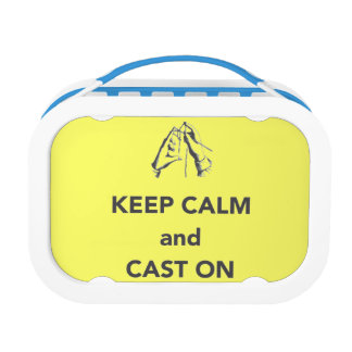 Keep Calm and Cast On Yubo Lunch Box