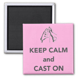 Keep Calm and Cast On Refrigerator Magnet