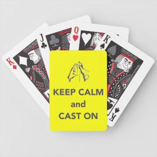 Keep Calm and Cast On Bicycle Poker Cards