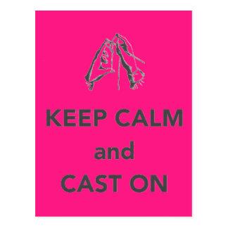 Keep Calm and Cast On Postcards
