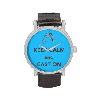 Keep Calm and Cast On Wrist Watches