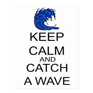 Keep Calm And Catch A Wave Postcard