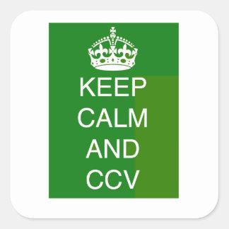KEEP CALM AND CCV SQUARE STICKER