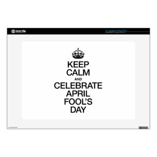 KEEP CALM AND CELEBRATE APRIL FOOL'S DAY LAPTOP SKINS