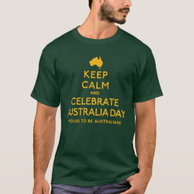 Keep Calm And Celebrate Australia Day T-Shirt