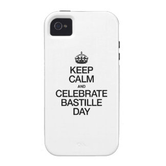 KEEP CALM AND CELEBRATE BASTILLE DAY iPhone 4 COVER