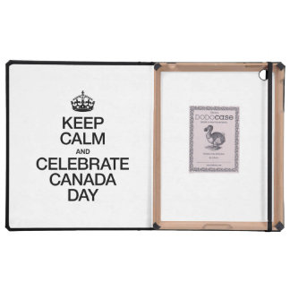 KEEP CALM AND CELEBRATE CANADA DAY COVERS FOR iPad