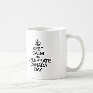 KEEP CALM AND CELEBRATE CANADA DAY COFFEE MUG