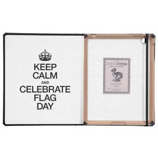KEEP CALM AND CELEBRATE CELEBRATE FLAG DAY iPad FOLIO CASE