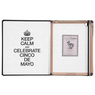 KEEP CALM AND CELEBRATE CINCO DE MAYO iPad COVER