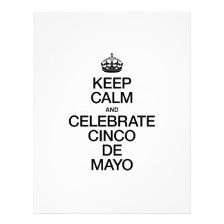 "KEEP CALM AND CELEBRATE CINCO DE MAYO 8.5"" X 11"" FLYER"