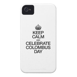 KEEP CALM AND CELEBRATE COLOMBUS DAY iPhone 4 COVER