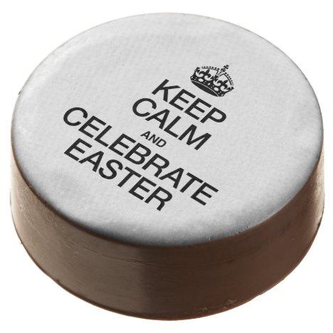 KEEP CALM AND CELEBRATE EASTER CHOCOLATE DIPPED OREO