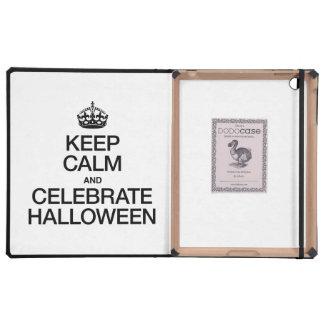 KEEP CALM AND CELEBRATE HALLOWEEN iPad CASES