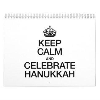 KEEP CALM AND CELEBRATE HANUKKAH CALENDAR