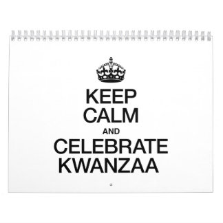 KEEP CALM AND CELEBRATE KWANZAA CALENDARS