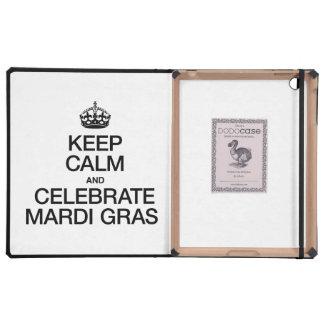 KEEP CALM AND CELEBRATE MARDI GRAS CASES FOR iPad